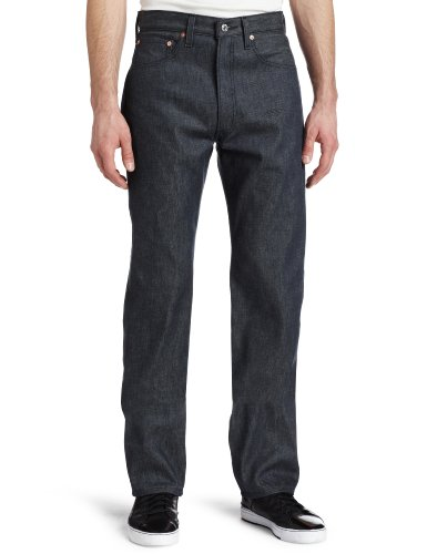 Levi's 501 Original Straight Fit Jeans, Dark Gray Rigid, 30W / 32L Uomo