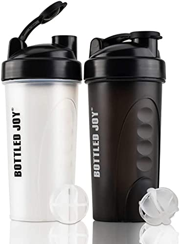 Protein Shaker Flasche Sport Trinkflasche für Proteinshake 750 ml BPA Frei 2 Pack