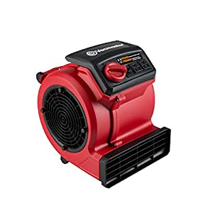 Vacmaster Red Edition AM201 1101 550 CFM Portable Air Mover