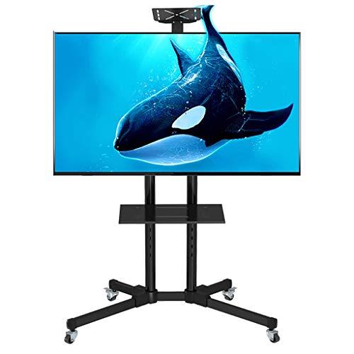 FKTVSTAND Heavy Duty Mobile TV Sammelstelle mit Universal TV Halterung for 32-60 Zoll-LCD-LED TV-Halter Fußboden-Ausstellungsstand Carts/Trolley mit DVD-Halter