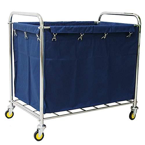 CENPEN Sombrilla Comercial balanceo de lavandería Clasificador Sirviendo Carrito con Ruedas, Carrito de Limpieza con Mango de Lino, Bolsa extraíble, Azul