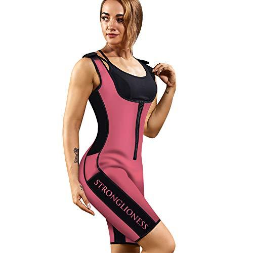 STRONGLIONESS ¡Faja! Traje Sauna De Neopreno Moldeador De Figura para Mujer Quema Grasa Suda 3 Veces Mas! Body Shaper Camiseta de compresión S, M, L, XL, XXL Fitness y Deporte (Rosa, XXL)