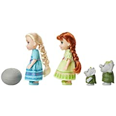 Disney Frozen Petite Anna & Elsa Dolls with Surprise Trolls Gift Set, Each Doll Is Approximately 6 inches Tall - Includes 2 Troll Friends! Perfect for any Frozen Fan! #4