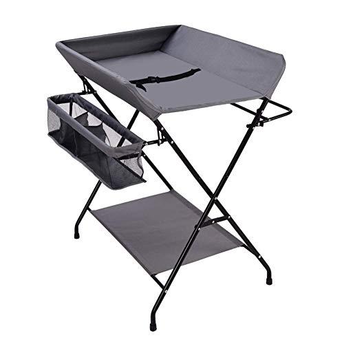 AFDK Tragbare Falt-Wickelstation für Kommoden-Massageeinheiten Cross Leg Style für den kleinen Raum - Dunkelgrau