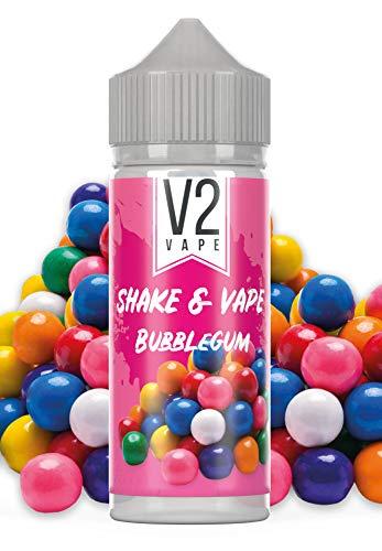 V2 Vape Shake and Vape hochdosiertes Premium Aroma-Konzentrat zum selber mischen mit Base. Zum direkt dampfen - ohne Reifezeit 20ml 0mg nikotinfrei Bubblegum
