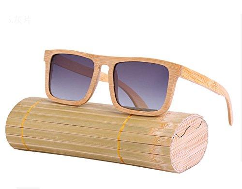 Las Nuevas Gafas De Sol De Las Gafas Cuadradas De Madera,GrayTablets