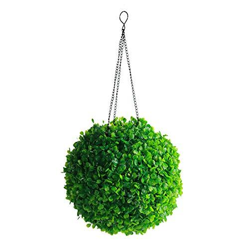 guoYL26sx Guirlande lumineuse à énergie solaire en forme de boule d'herbe, ampoule LED, boule en plastique à suspendre pour terrasse, pelouse, jardin, fête de mariage, décoration de festival