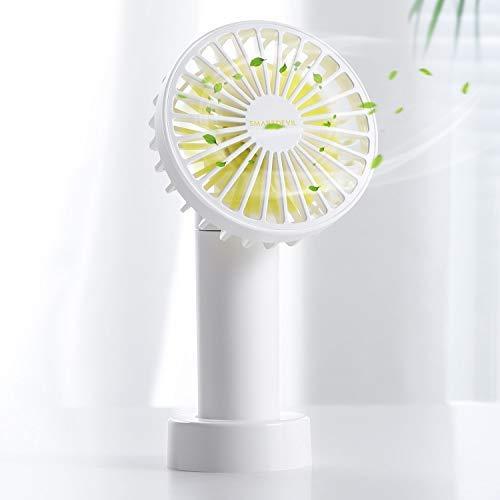 SmartDevil Ventilador de Mano,Doble Hoja Portátil USB Ventilador con Recargable Pilas,Viento Potente,3 velocidades Ajustables, para el Hogar,Oficina,Dormitorio y Viajes al Aire Libre