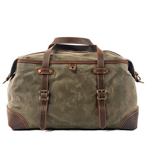 Muchuan Muchuan Unisex Canvas Leder Sporttasche Lugguage Bag mit Modellnummer 9503