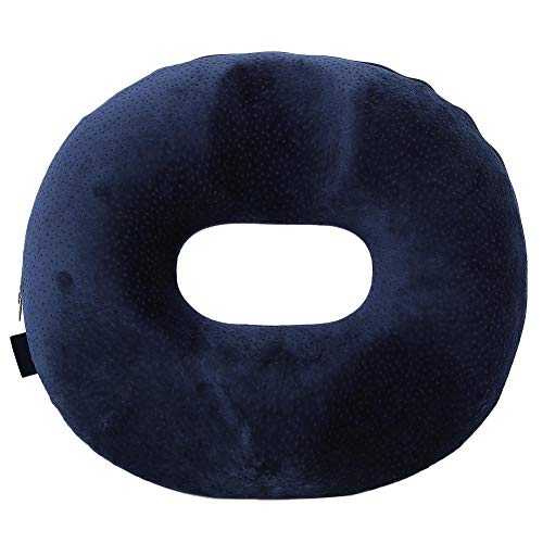 Yctze Memory Foam Seat Cushion, Super Comfort Round Ring Butt Cushion Helps Relief the Pain for Home Office