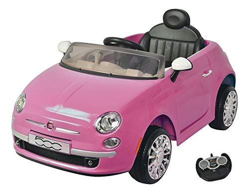 MamaLoes Eco Toys Fiat 500 Roze Elektrische Kinderauto 651R