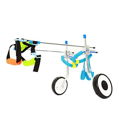 NHLCW huisdier Hind been rolstoel, l breedte en hoogte kan worden aangepast aan revalidatie training Honden Special Assisted Scooters, (grootte: M)