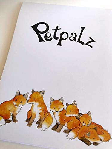 Petpalz - Briefblock Füchse, DIN A4