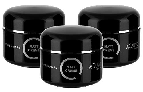 Style & Care Matt Creme Paste für natürliches Styling & Finish (3x 100ml) | Haarwachs für Männer starker Halt | Haarcreme für den perfekten Matt Look