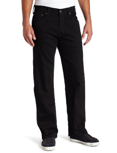 Levi_s Men_s 569 Loose Straight Leg Jean, Black-Stretch 40W x 32L