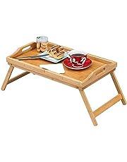 Fly Hong Tray Table, Bamboo Folding Bed Breakfast Tray Wood Laptop Tafel met handvaten in Floor Sofa Thuis