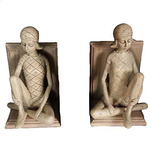 YIGEYI Résine Artisanat À L'européenne Serre-Livres Classique Petite Fille par Ornements Décorations Commerciales Sculptures Décoratives