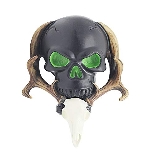 Sakali Specail Skull with Beard Car Gear Stick Shift Shifter Knob Universal fit for Most Manual Transmission or Automatic Transmission Without Lock Button(Black)