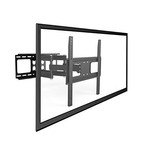 Savonga TV Wandhalter Fernseh Wandhalterung 2F117 schwenkbar neigbar Monitor Halter für LED LCD 32-55 Zoll wie Samsung Telefunken Hisense VESA 100x100-400x400 hält max 50kg robuste Design doppelarm
