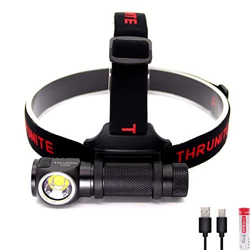 ThruNite TH30 LEDヘッドライト スーパーブライト 照射距離最大155メートル/明るさ最大3350ルーメン/最大光度6550cd/IPX-8防水 山登り・ハイキング・キャンプ・緊急時などに適用 3100mAh IMR 18650充電池使用