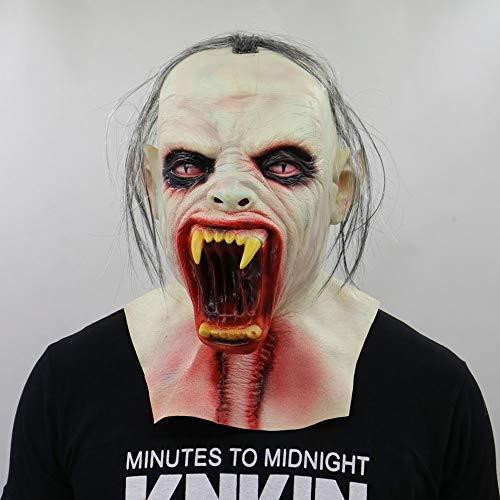 Gzhengjie Halloween Maske Sinister Die Horror-Maske aus Latex Zombie Zum Gruseln Für Männer und Frauen