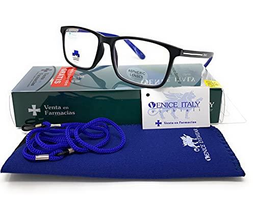 New Model 2021 Gafas con filtro bloqueo de luz azul para gaming, ordenador, móvil. Anti fatiga professional BROKER unisex venice (+1.50)