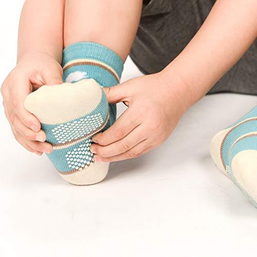 12 Pairs Infant Newborn Cotton Socks, Baby Boys Toddler Boy Non Skid Socks with Grips Little Boy Slipper Socks (12 Pairs Super Star, 9-18 Months)