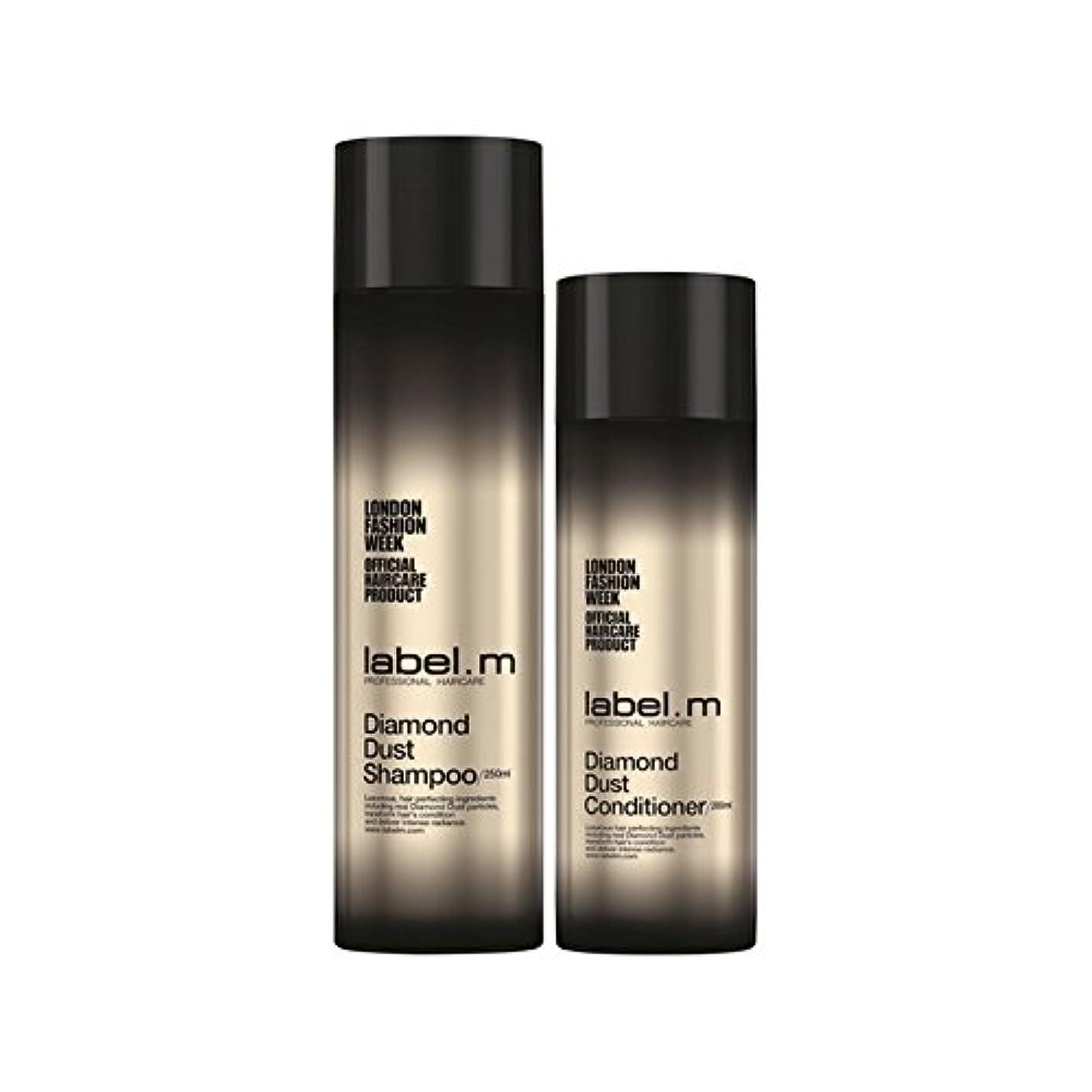 ベスト甲虫補充.ダイヤモンドダストのシャンプーとコンディショナーのデュオ x2 - Label.M Diamond Dust Shampoo And Conditioner Duo (Pack of 2) [並行輸入品]