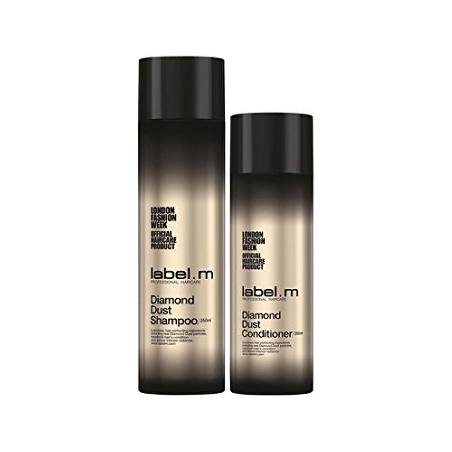 ドナウ川知る開発する.ダイヤモンドダストのシャンプーとコンディショナーのデュオ x2 - Label.M Diamond Dust Shampoo And Conditioner Duo (Pack of 2) [並行輸入品]