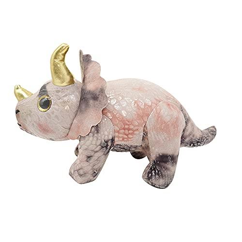 QKFON Lindo cojín de peluche de dinosaurio con forma de dinosaurio de peluche de peluche de dibujos animados de peluche para el hogar y la oficina regalo para familiares amigos colegas
