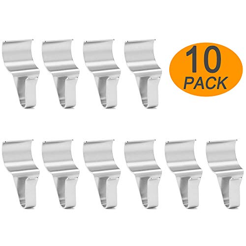 Vinyl Siding Hooks (10 Pack), WISH Heavy Duty Stainless Steel Low Profile No-Hole Vinyl Siding Clips for Hanging
