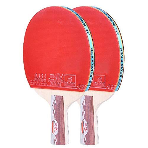 Lerten Palas de Ping Pong,Bate de Tenis de Mesa Raquetas Profesional TéCnicamente Completa con Excelente Velocidad de Giro Y Control / 5 Star/B
