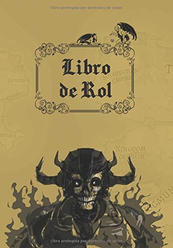 LIBRO DE ROL: CUADERNO PARA JUEGOS RPG O JDR (PAPEL CUADRICU