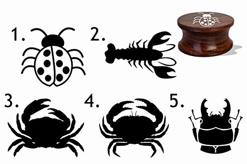 IMPACT2PRINT Sellos personalizados de madera y acrílico montado en goma de diseño de insectos, ideal para regalo