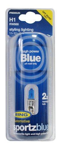 RING RW668 2 Ampoules H1 12V 80W Sportz Blue