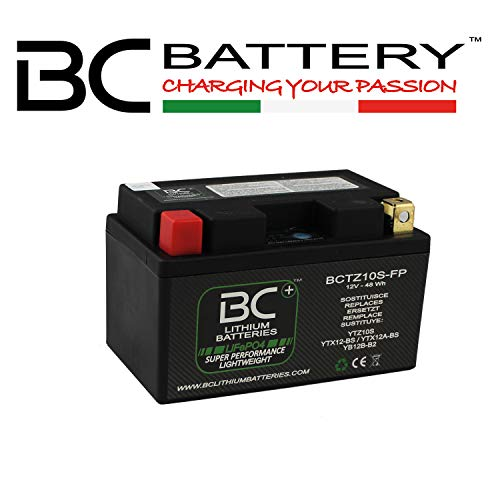 BC Lithium Batteries BCTZ10S-FP Motorrad Lithiumbatterie LiFePO4, Black, 1