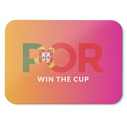 BLAK TEE Portugal Will Win The Football Cup Mouse Pad 18 x 22 cm in 3 Colours Pink Yellow