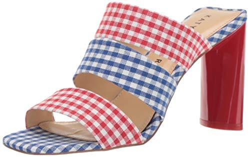 Katy Perry Women's The CALI Heeled Sandal red/multi 7 Medium US