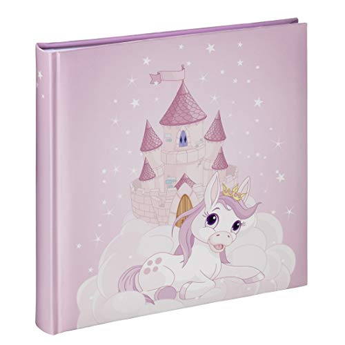 Hama Kinderalbum mit Prinzessin Motiv, Kinder-Fotoalbum mit 50 weißen Seiten für bis zu 100 Fotos im Format 10x15, Kinder-Fotobuch zum selbstgestalten, Album für Mädchen, 25x25 cm, Pony Design, rosa