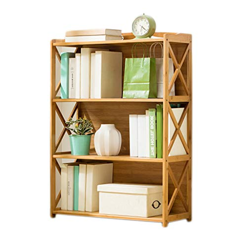 Stevige Houten Boekenkast, Modern Bookshelf Multi-layer Open Style Simple File Storage Kasten met Safety Backplane voor thuiskantoor,3layers