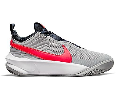 Nike Team Hustle D 10, Zapatillas Deportivas, Lt Smoke Grey Bright Crimson, 36 EU