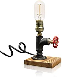 Retro Industrial Iron Pipe Table Lamp