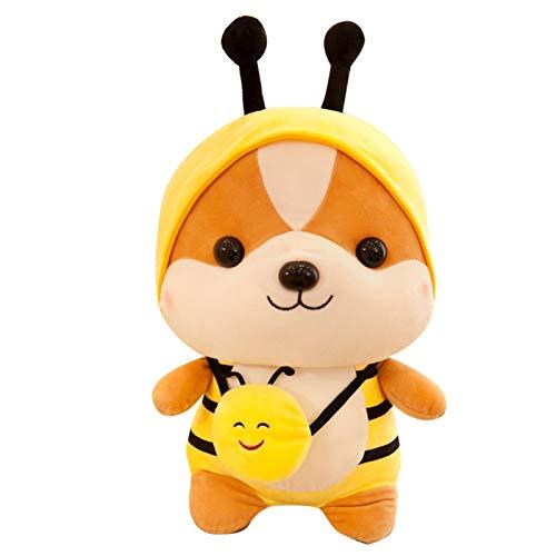 Amkya Soft Animal-Shaped Plush Doll Short Plushie Cotton Stuffed Animal Pillow Cuddling Toy for Bedroom Boy Girl Sleeping