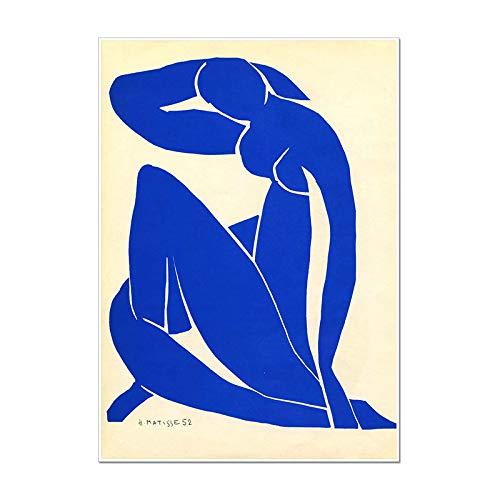 WSJIJY Impresión De La Lona Moda Henri Matisse Print Vintage Art Poster Painting Decoración del Hogar Decoración De La Pared De La Sala De Estar, como Se Muestra, 70X100Cm Sin Marco