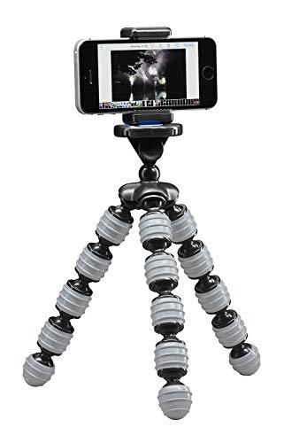 Cullmann Alpha 380 Mobile Flexibles Ministativ mit Smartphone-Halterung, grau, Tragfähigkeit 1,5 kg, 267g leicht, 380 Mobile (30 cm), 50028