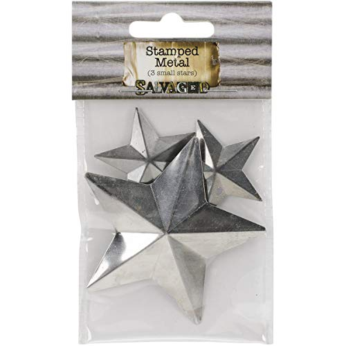 BCI Crafts Salvaged Tin Metal Shapes 3/Pkg-Stars