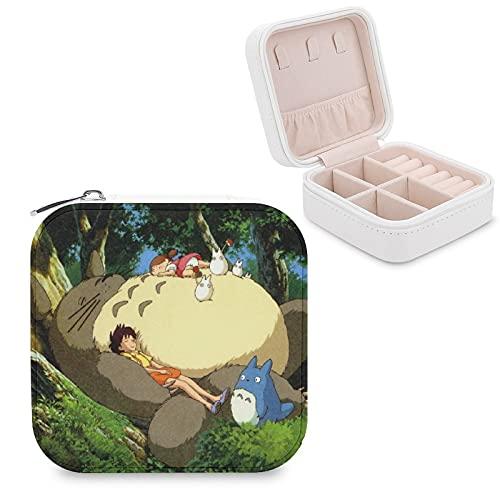 Japón Anime TotoroJewelry Caja de almacenamiento de joyas Compartimiento de joyería de gestión del hogar, viajes, pendientes de regalo, collar de moda