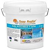 Tecno Prodist TECNOSAL Piscinas y SPA 5 kg - Sal Especial para la cloración Salina de Piscinas, SPA y Jacuzzis - En Cubo Fácil Aplicación