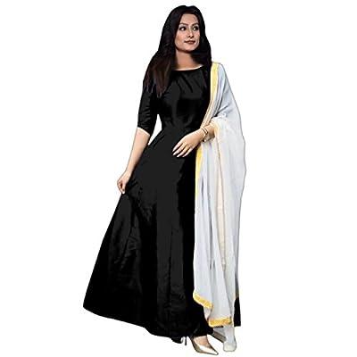 Elexsis Fashion Women's Tapeta Silk Anarkali Fancy Gown. (204_Free Size)
