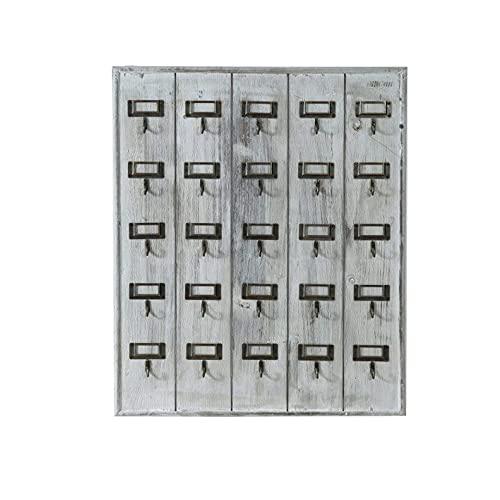 Biscottini Porta Chiavi da Muro per casa in Legno   Svuota Tasche da Ingresso con 25 Ganci Portachiavi   Appendi Chiavi a Muro 60x49,5x5 cm   Portachiavi casa
